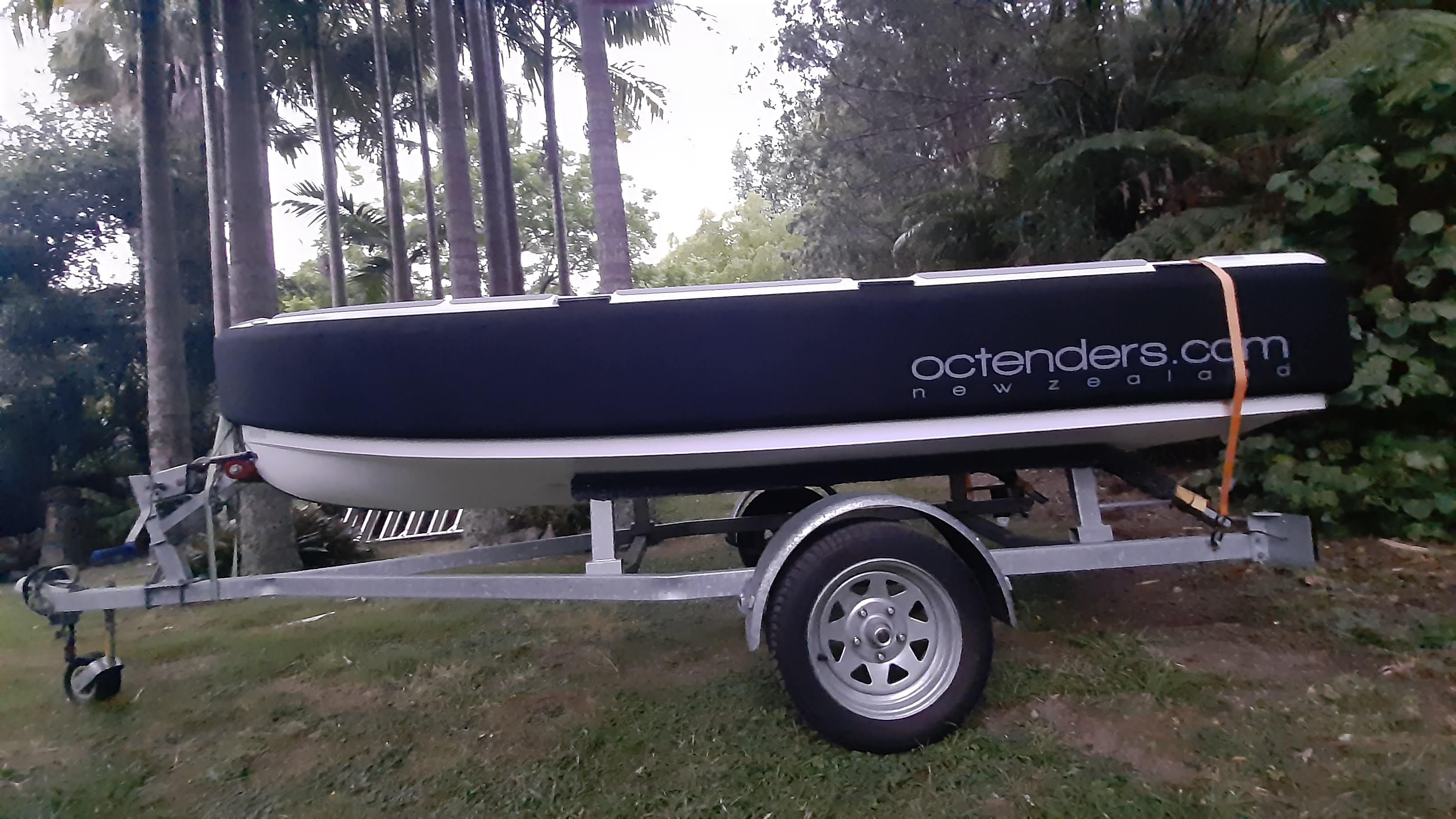 Our tenders are easily fitted into trailers, have a little boat on the go