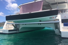 Fountaine Pajot Hydraulic platform