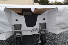overall cover transom tie up