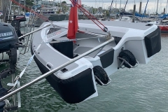 light weight davits work well with our light weight tenders.