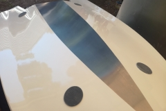 Through hull custom carbon pad eyes for lower lifting points