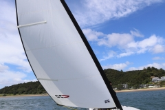 OC350 - S under test sail splash